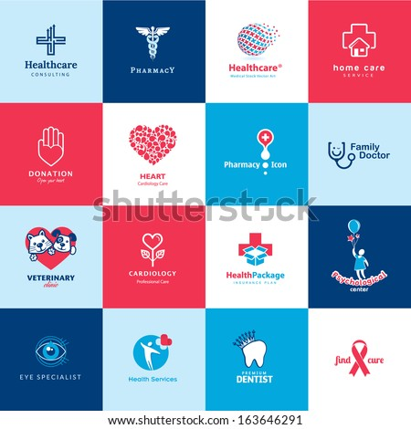 Set of medical and healthcare icons    - stock vector