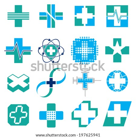 Set of Medical Concept Icons - stock vector