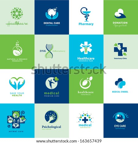 Set of medical flat icons     - stock vector