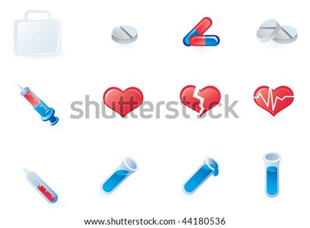 set of medical icons - vector illustration - stock vector