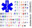 Set of medical sketches. Part 9. Isolated groups and layers. Global colors. - stock vector