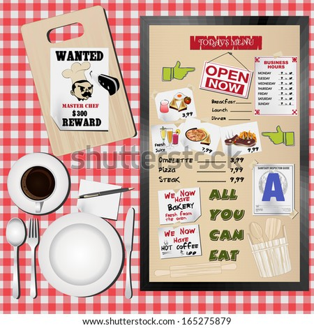 Set of menu for food and drink vector  - stock vector