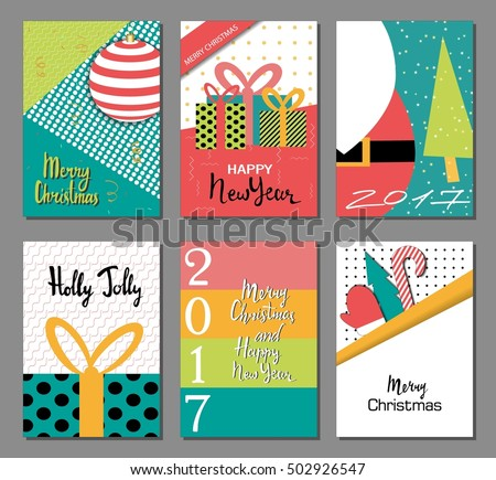 Set merry christmas new year flat stock vector 502926547 shutterstock stopboris Gallery
