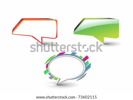 set of messenger window icon isolated on white background - stock vector