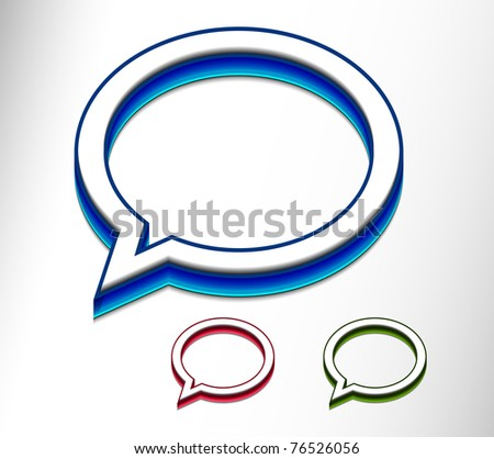 Set of messenger window icon vector illustration isolated on white background. - stock vector