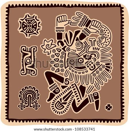 Set of Mexican Design Elements - stock vector