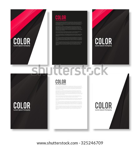 Set of Minimal Modern Abstract Flyers - EPS10 Brochure Design Templates - stock vector