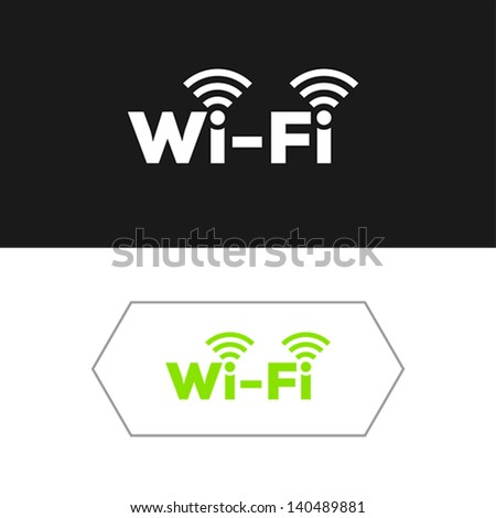 Set of minimalistic and modern wifi icons. - stock vector
