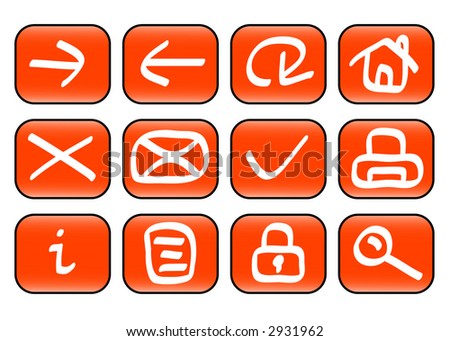 Set of miscellaneous web icons (vector, illustration)