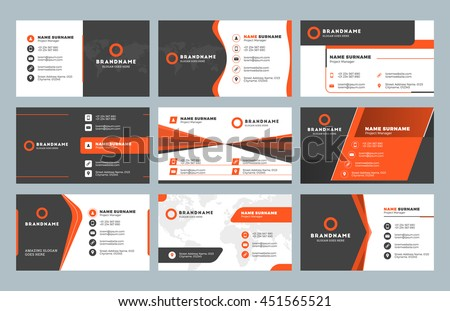 Set modern business card print templates stock vector 2018 set of modern business card print templates personal visiting card with company logo clean reheart Images