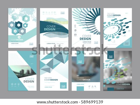 Business vector set brochure template layout stock vector for Paper ad design templates
