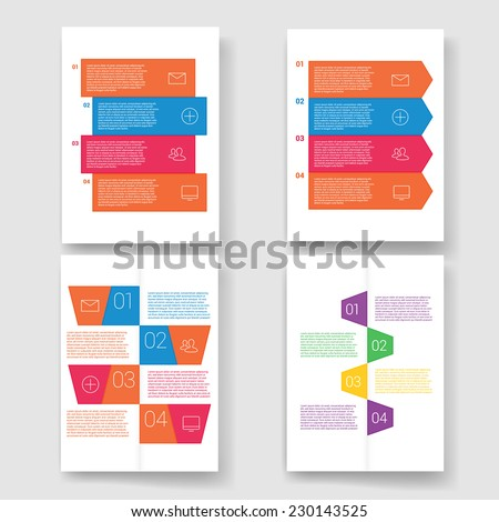 Infographic Ideas infographic lines : Modern Design Minimal Style Infographic Template Stock Vector ...