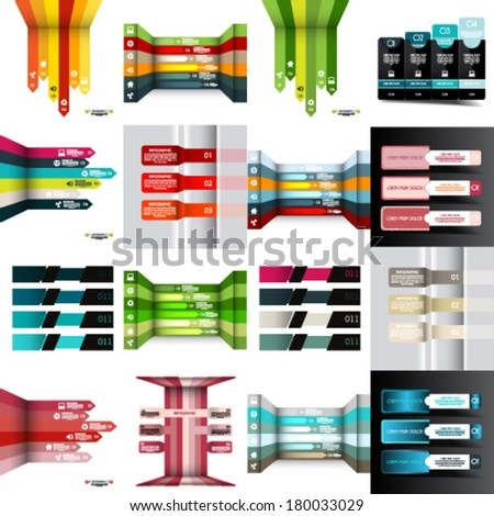 Set of Modern design template, abstract background - stock vector