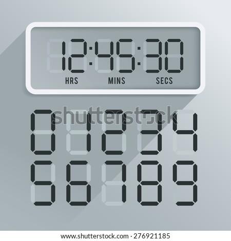 Digital Wall Clock Stock Images RoyaltyFree Images Vectors