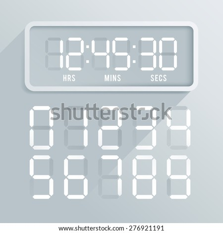 Set of Modern Digital Watch : Vector Illustration - stock vector