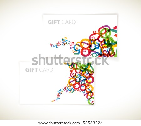 Set of modern gift card templates - stock vector