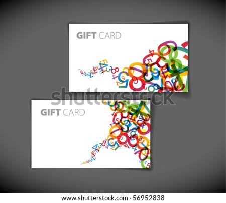 Set of modern gift card templates - stock vector