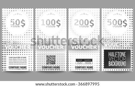 Set Modern Gift Voucher Templates Virtual Stock Vector 417279892 ...
