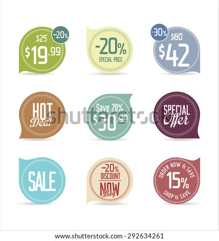 Set of modern stickers and badges - stock vector