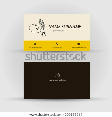 Set modern vector business card template stock vector 200933267 set of modern vector business card template with face front and back side wajeb Gallery