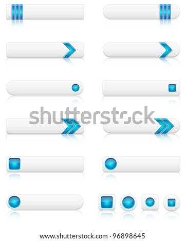 Set of modern web buttons. Vector file. - stock vector