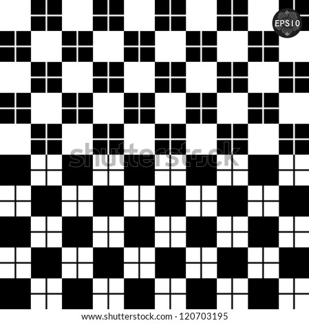 Set of monochrome geometric seamless patterns. Vector - stock vector
