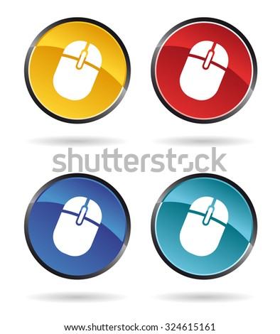 set of mouse icons for websites - stock vector
