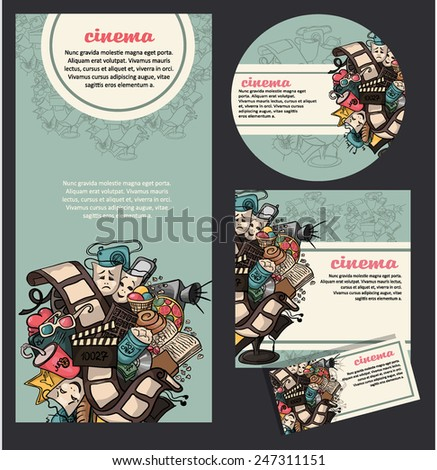 Set of movie cinema banners. vector - stock vector