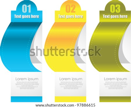 set of multicolor labels/tags