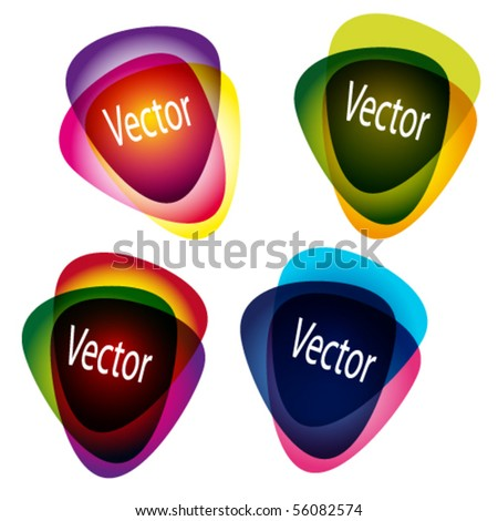 Set of multicolor picks. Abstract vector illustration. - stock vector