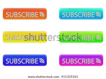 Set of multicolored buttons. Vector illustration.