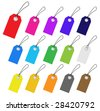 Set of multicolored vector tags for marketing design. Perfect use with text. - stock vector