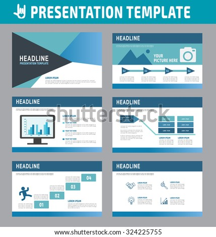 Set of multipurpose business presentation template.Infographic element.business advertising marketing concept.flyer layout design.brochure modern style.flat icons vector illustration. - stock vector