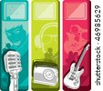 Set of music banners. Vector illustration. - stock vector