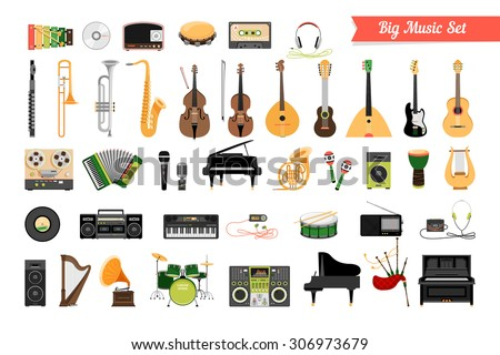Worksheet Types Of Instruments musical instruments stock images royalty free vectors set of music instruments