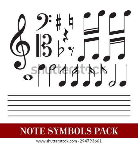 Set of Music Notes Symbols EPS 10 - stock vector