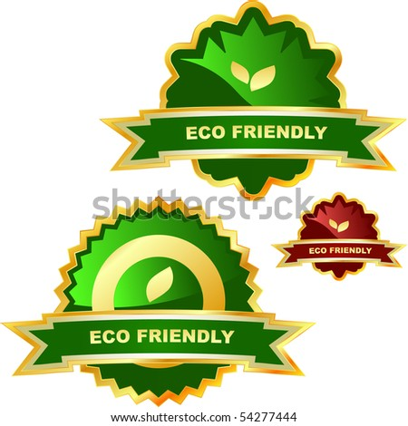 Set of natural labels. - stock vector