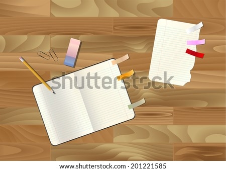 Set of office supplies, vector illustration in EPS10.