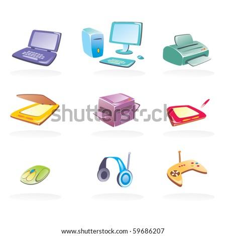Set of office vectors - stock vector