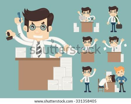 Set of office worker  , eps10 vector format - stock vector