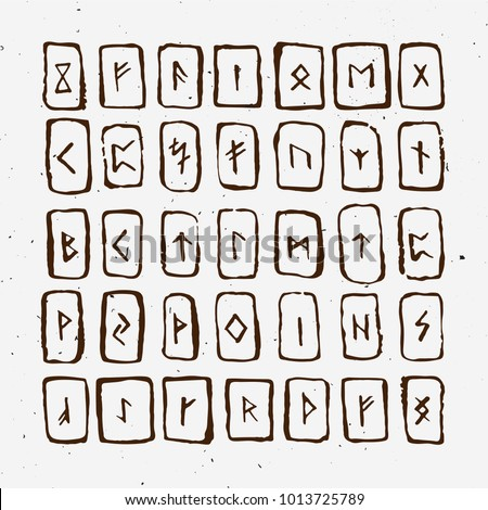 Satanic writing alphabet