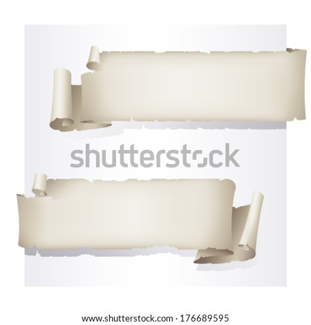 set of old paper stickers - stock vector