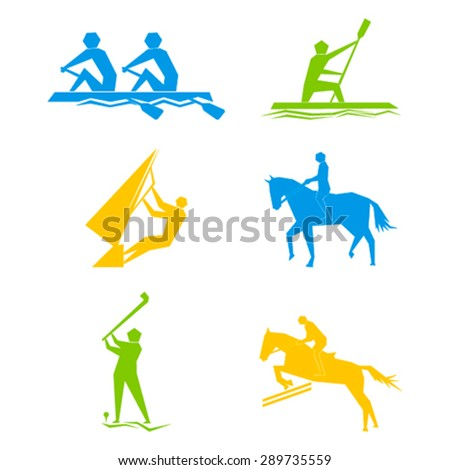 Set of Olympic game design vector - stock vector