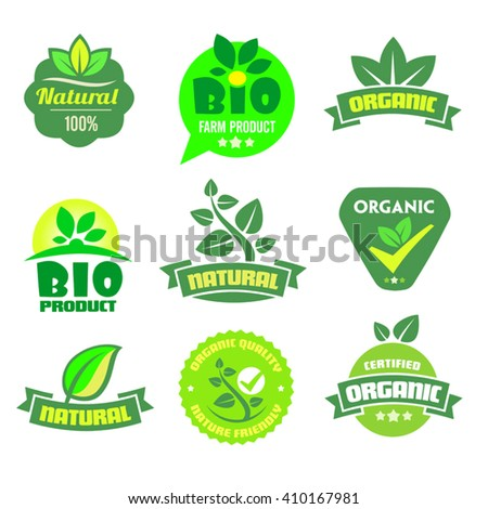 Set of organic-bio icons on the white background. - stock vector