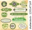 Set of organic labels set - stock vector