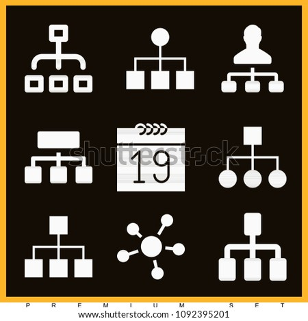Set 9 organization filled icons such stock vector 1092395201 set of 9 organization filled icons such as business affiliate network diagram hierarchy ccuart Choice Image