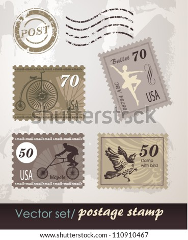 Set of original stamps