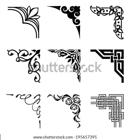 Corner Borders Stock Images, Royalty-Free Images & Vectors ...  Fancy