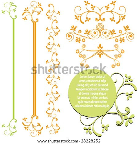 Set of ornamental design elements. - stock vector