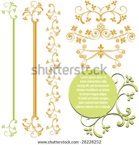 Set of ornamental design elements. - stock vector